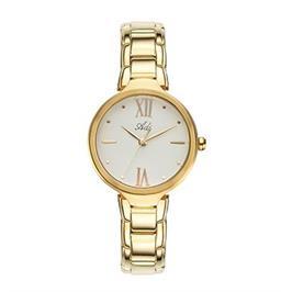 שעון פלדת אל חלד מוזהבת לאישה בעיצוב קלאסי עמיד במים מבית ADI דגם 16-6961-383