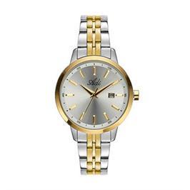 שעון פלדת אל חלד טוטון עם תאריכון לאישה עמיד במים עד 501 מ' מבית ADI דגם 16-6985-483
