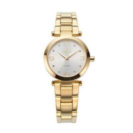שעון יד מוזהב לאישה עם זכוכית ספיר עמיד במים עד 30 מ' מבית ADI דגם 16-6738-333