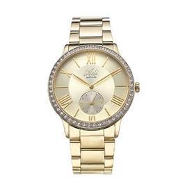 שעון מוזהב אופנתי לאישה עם זכוכית ספיר עמיד במים עד 50 מ' מבית ADI דגם 17-1K93-333