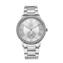 שעון מוכסף אופנתי לאישה עם זכוכית ספיר עמיד במים עד 50 מטר מבית  ADI דגם 17-1K93-183