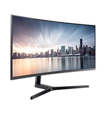 """מסך מחשב """"34 קעור בפורמט צפייה אולטרה רחב של 21:9 תוצרת Samsung דגם C34H890WJM"""