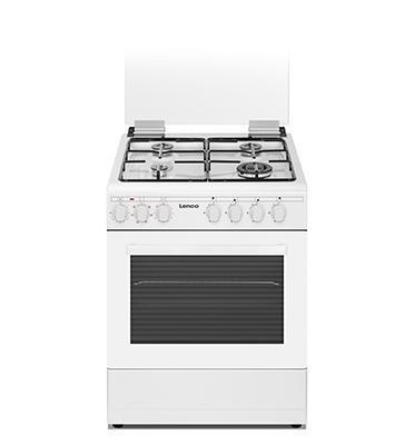 תנור אפיה משולב כיריים גז + מבער ווק 6 תוכניות אפיה מבית LENCO דגם LFS6049WT