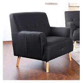 כורסא מעוצבת מבד בעיצוב רטרו עיצוב רטרו עם קווים מעוגלים ומראה מרשים מבית HOME DECOR דגם דניאל