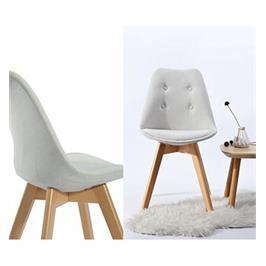 זוג כיסאות בסיס עץ עמיד ואיכותי בעיצוב קלאסי מבית HOMAX דגם לואי