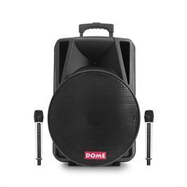 """בידורית קריוקי ניידת רמקול נייד בלוטות עם וופר 15"""" ואפשרות הקלטה מבית DOME2 דגם DM2015"""