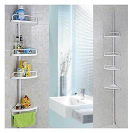 Corner Shelf - מעמד לשמפו, לסבונים ולאביזרי אמבט בעל מראה יוקרתי ומתכוונן לכל גובה