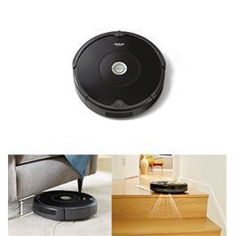 שואב אבק מסדרת 600 מנקה במקומות קשים להגעה,מתחת לספות,שולחנות תוצרת IROBOT דגם רומבה 606