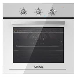 תנור בנוי מפואר בגימור לבן טורבו 6 תוכניות תוצרת MULLER דגם  FBO-ADWW6326