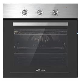תנור בנוי נירוסטה טורבו 6 תוכניות  תוצרת MULLER  דגם FBO-ADXB6326