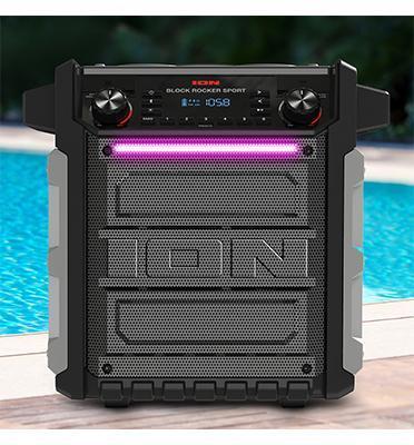 רמקול בלוטוס נייד מוגן מים 1000W עוצמתי בס חזק 75 שעות תוצרת ION דגם BlockRockerSport