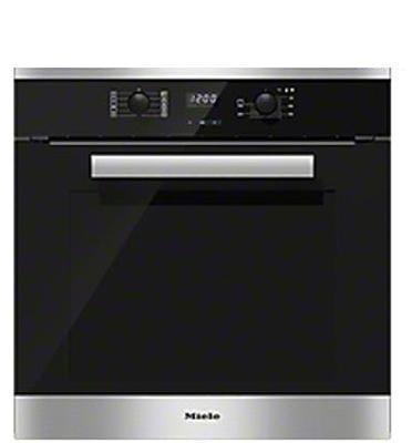 תנור אפיה בנוי בנפח 76 ליטר תצוגת LCD מסדרת הPure line תוצרת Miele נירוסטה דגם H2661B-CLST