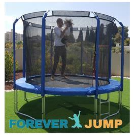 טרמפולינה 10 פיט 3.05 מטר עם רשת פנימית סופר פרימיום FOREVER JUMP TOP