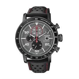 שעון כרונוגרף סולארי עם רצועת עור שחורה לגבר עמיד במים עד 100M מבית ADI דגם CI-CA064515H