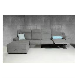 ספה פינתית בד אלפנט בצבע אפור 2 הדומים נשלפים וארגז מצעים מבית Vitorio Divani דגם אמורוסה