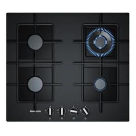 """כיריים גז 4 להבות 60 ס""""מ זכוכית מחוסמת שחורה מבער ווק תוצרת Constructa דגם CA234291IL"""