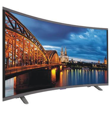 """טלויזיה """"50 CURVED LED SMART TV  FULL HD תוצרת MULEER דגם G-50FL /SMART CURVED"""