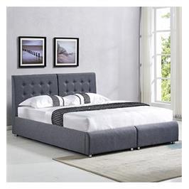 מיטה זוגית בריפוד בד עם הפרדה יהודית וארגזי מצעים מבית  HOME DECOR דגם אופירה