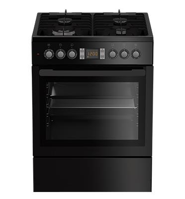 תנור אפיה משולב כיריים תא אפייה ענק 65 ליטר תוצרת Blomberg דגם HGN9333 - צבע שחור