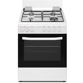 תנור משולב כיריים גז רוחב 60 ס''מ טורבו גריל צבע לבן תוצרת MASIMO דגם LAV60W