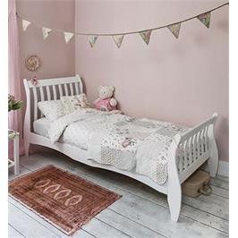 """מיטה מעוצבת 90*190 ס""""מ מעץ מלא לילדים ונוער מבית BRADEX דגם KODA"""