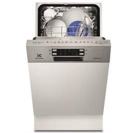 """מדיח כלים צר חצי אינטגרלי 45 ס""""מ ל- 9 מערכות כלים תוצרת Electrolux דגם ESI4501LOX"""