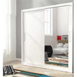 """ארון הזזה ענק 200 ס""""מ עם דלת מראה תוצרת אירופה מבית HOME DECOR דגם מריל 200"""
