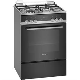 תנור אפיה משולב כיריים גז תא בנפח 66 ליטר בעיצוב שחור תוצרת SIEMENS דגם HX9S5IH40Y