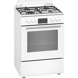 תנור אפיה משולב כיריים גז תא בנפח 66 ליטר בעיצוב לבן תוצרת BOSCH דגם HXR39IH20Y