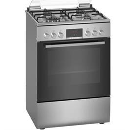 תנור אפיה משולב כיריים גז תא בנפח 66 ליטר בעיצוב נירוסטה תוצרת BOSCH דגם HXR39IH50Y