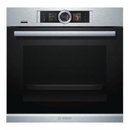 תנור אפייה בנוי 71 ליטר משולב Home Connect צבע נירוסטה תוצרת BOSCH דגם HBG656ES6