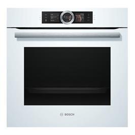 תנור אפייה בנוי 71 ליטר משולב Home Connect צבע לבן תוצרת BOSCH דגם HBG656EW6