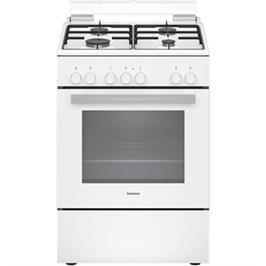 תנור אפייה משולב כיריים גז בנפח 66 ליטר בעיצוב לבן תוצרת CONSTRUCTA דגם CH9M10D20Y