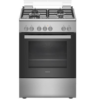 תנור אפייה משולב כיריים גז בנפח 66 ליטר בעיצוב נירוסטה תוצרת CONSTRUCTA דגם CH9M10H50Y