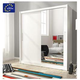 """ארון הזזה 180 ס""""מ עם דלת מראה תוצרת אירופה מבית HOME DECOR דגם מריל 180"""