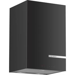 """קולט אדים צמוד קיר זכוכית שחורה בעיצוב קוביה 33 ס""""מ  תוצרת BOSCH דגם DWI37JM60"""