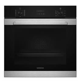 תנור בנוי פירוליטי 71 ליטר בעיצוב שחור עם נירוסטה מסדרת iQ300 תוצרת SIEMENS דגם HB374ABR0Y