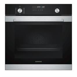 תנור בנוי פירוליטי 71 ליטר בעיצוב שחור עם נירוסטה מסדרת iQ500 תוצרת SIEMENS דגם HB378G2R0Y