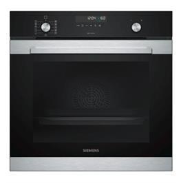 תנור בנוי פירוליטי 71 ליטר בעיצוב שחור עם נירוסטה מסדרת iQ500 תוצרת SIEMENS דגם HB378GTS0