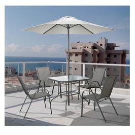 סט פינת אוכל מפואר כולל שולחן ,שמשיה ו-4 כסאות איכותיים מבית תוצרת Australia Camp דגם Tuscany