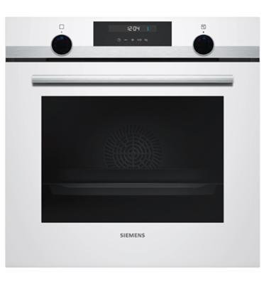תנור בנוי 71 ליטר 7 תוכניות בעיצוב לבן עם נירוסטה מסדרת iQ500 תוצרת SIEMENS דגם HB537GBW0Y