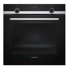 תנור בנוי פירוליטי 71 ליטר בעיצוב שחור עם נירוסטה מסדרת iQ300 תוצרת SIEMENS דגם HB574ABR0Y