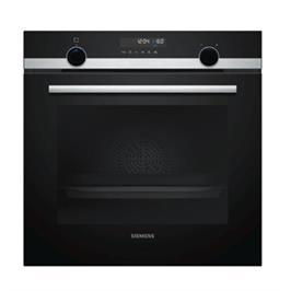תנור בנוי פירוליטי 71 ליטר בעיצוב שחור עם נירוסטה מסדרת iQ500 תוצרת SIEMENS דגם HB578GBS0Y