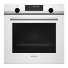 תנור בנוי פירוליטי 71 ליטר בעיצוב לבן עם נירוסטה מסדרת iQ500 תוצרת SIEMENS דגם HB578GBW0Y
