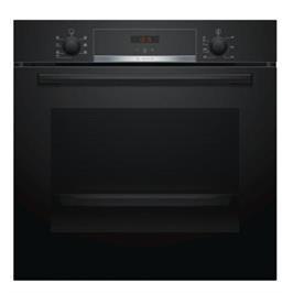 תנור בנוי 71 ליטר 5 תוכניות טורבו 3D שחור מסדרה 4 תוצרת BOSCH דגם HBA533BB0