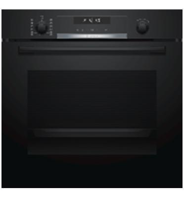 תנור בנוי פירולטי 71 ליטר 10 תוכניותSerie 6  שחור תוצרת BOSCH  דגם HBG578BB0Y