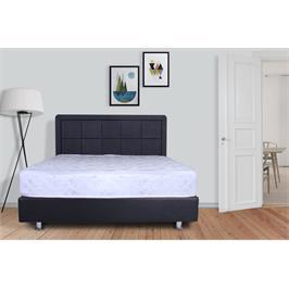 מיטה מרופדת בעלת ראש מעוצב ריבועים+מזרן מתנה + ארגז מצעים מתנה מבית אולמפיה דגם 6012