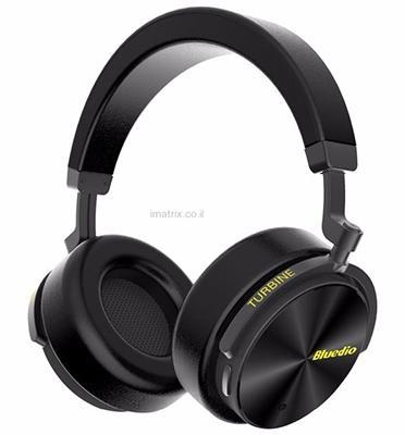 אוזניות בלוטות' אלחוטיות (OVER THE EAR) עם סאונד איכותי ובס מודגש מבית BLUEDIO  דגם T5