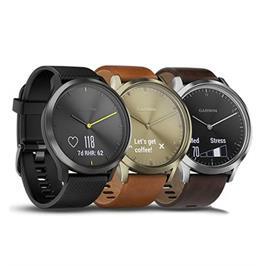 שעון חכם מסך מגע מבית GARMIN דגם Vivomove HR Black-Black,L  010-01850-21H