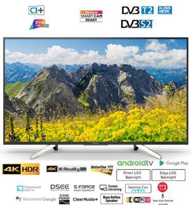 """טלויזיה """"49 4K  LED Android TV תוצרת Sony דגם KD-49XF7596BAEP"""